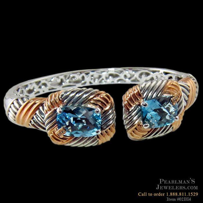 Bellarri Blue topaz sterling silver bracelet from Pearlman's Jewelers