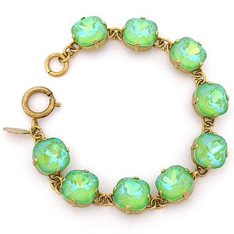 Catherine Popesco Bracelets from La Vie Parisienne. Ultra Lime chunky crystal br...