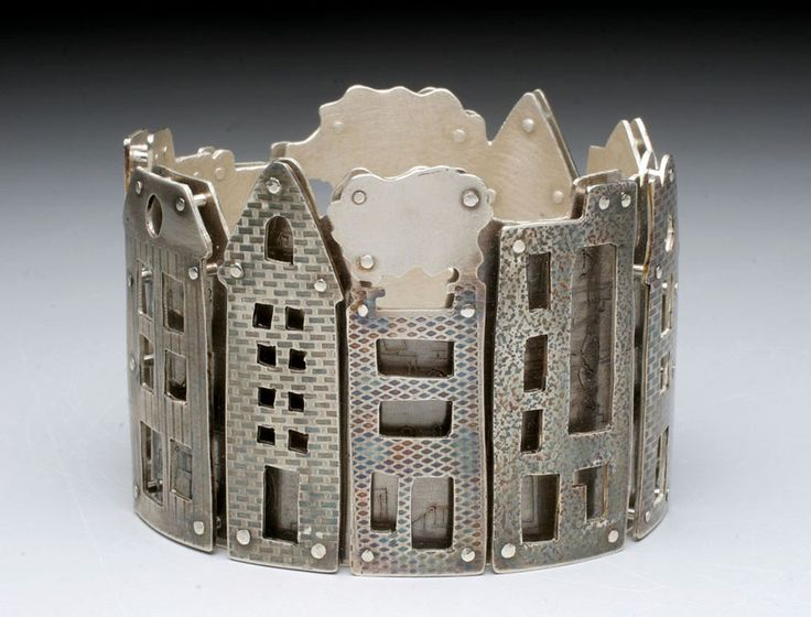 Neighborhood Bracelet sterling silver fabricated Holly Dobkin
