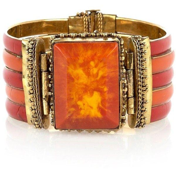 Orange Stone Cuff ... riverisland.com #jewellery #Autumn #Style #T3