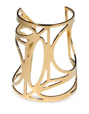 Pierre Hardy Geometric Gold Cuff - Shop ways to get your wardrobe ready for fall...