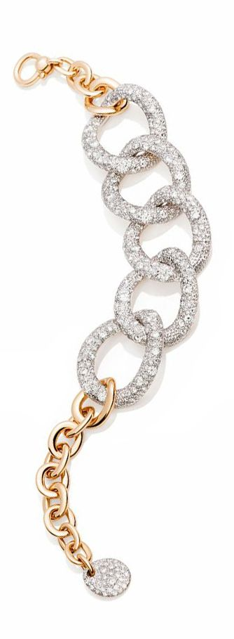 Pomellato ~ Tango Collection bracelet with white diamonds