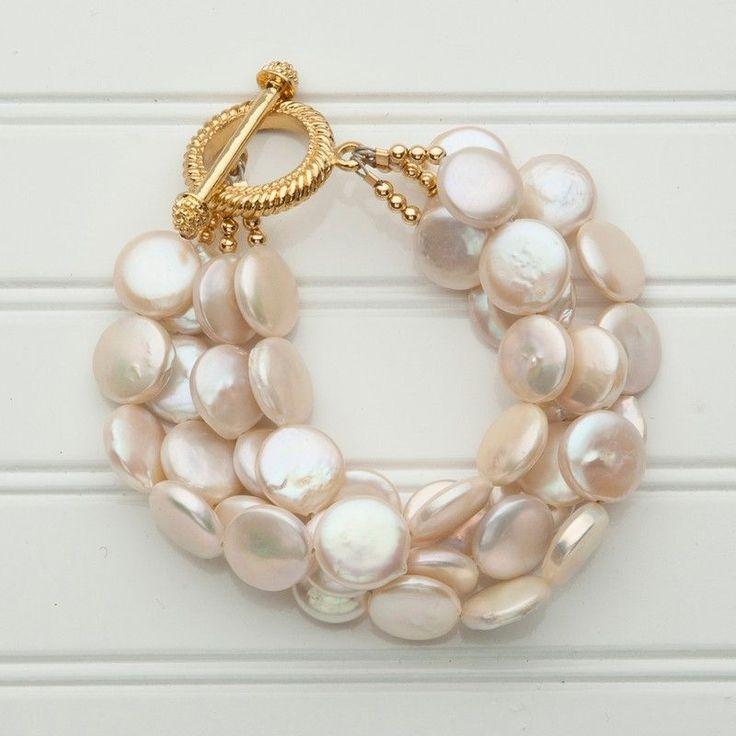 Rosamaria G Frangini | Pearl Poetry | Coin Pearl Bracelet