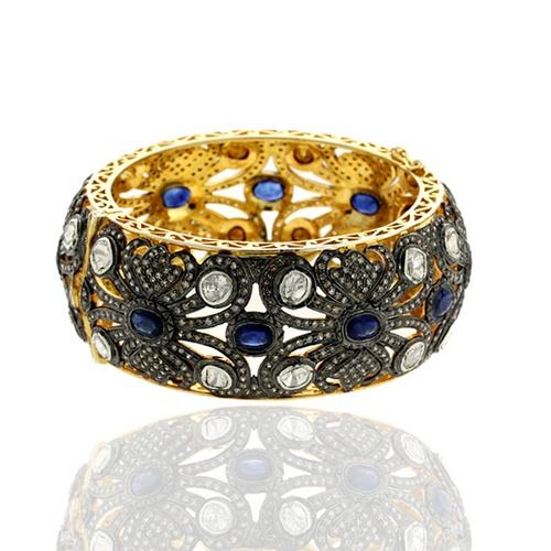 Sapphire, diamond and gold bracelet.