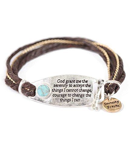 Serenity Prayer Bracelet Z6 Charm Toggle Hammered Plate S... www.amazon.com/...
