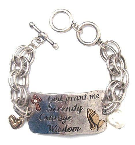 Serenity Prayer Bracelet Z8 Two Tone Simulated Pearl Hear... www.amazon.com/...