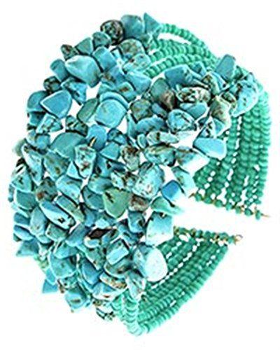 Stone Cuff Bracelet Z12 Turquoise Blue Cuff Recyclebabe www.amazon.com/...