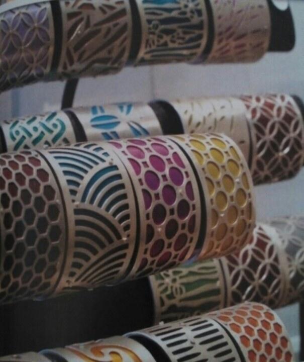 Cool cuffs by jewelry artist Gogo Borgerding. ilovegogojewelry.com.