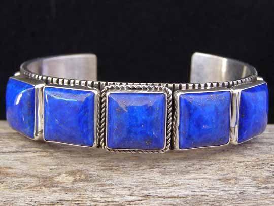 Guy Hoskie Lapis Lazuli Row Bracelet... at Chacodog.com
