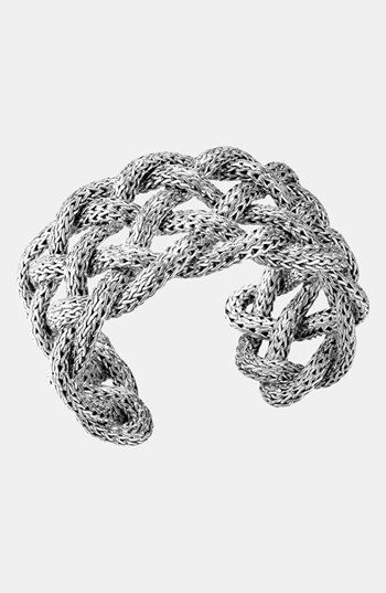 John Hardy 'Classic Chain' Wide Braided Cuff available at #Nordstrom