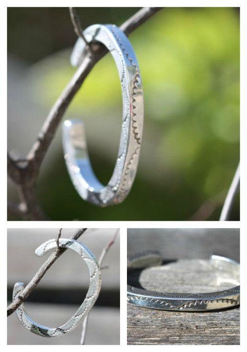 Navajo Bracelet Sterling Silver Stamp-work – Yourgreatfinds