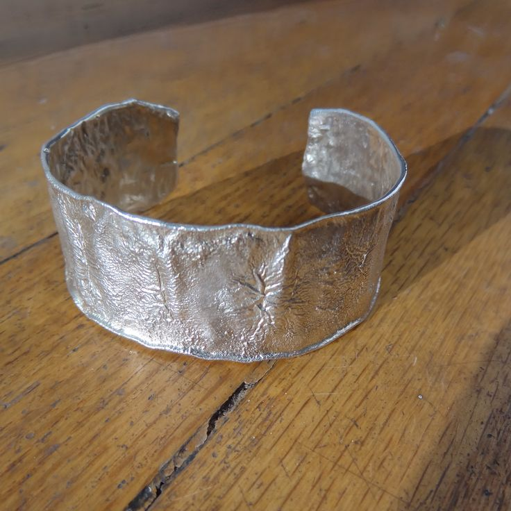 One of a Kind Reticulated Sterling Silver Cuff Bracelet - Handcrafted by Rare Ea...