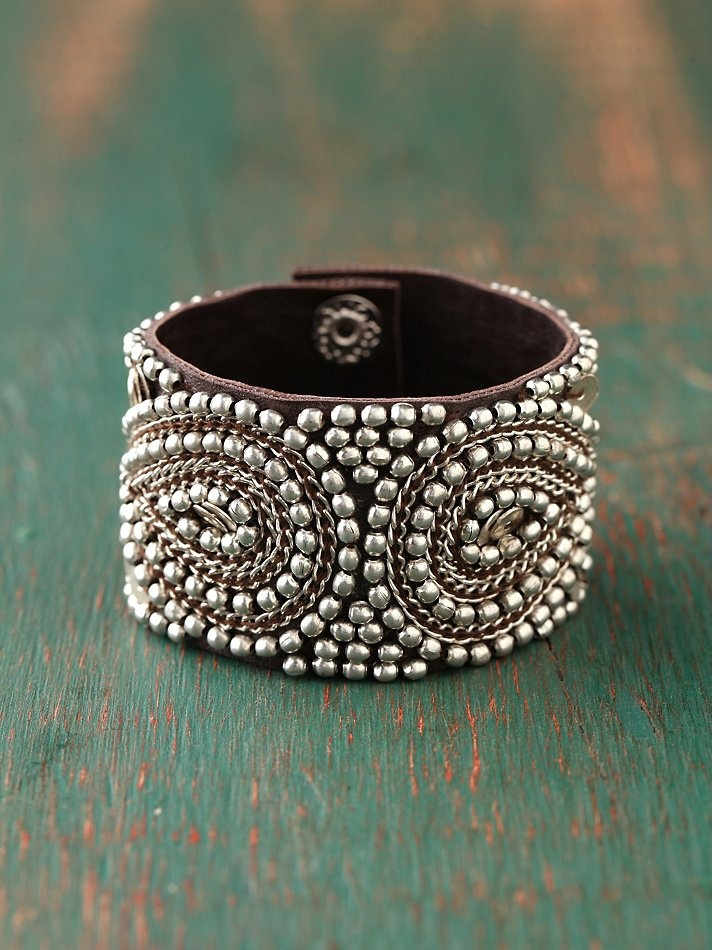 Persian Bead Cuff (faux leather) $28