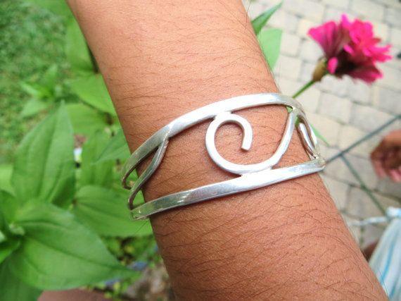 Sterling Silver Cuff Bracelet Handmade Sterling Silver Jewelry Friendship Weddin...
