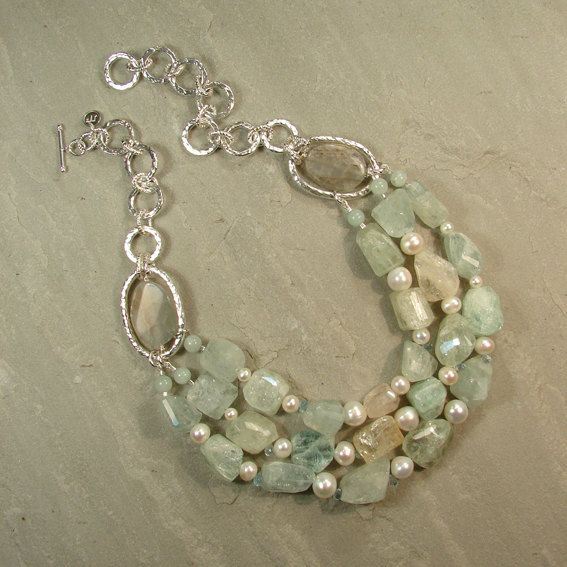 Sterling silver triple row necklace