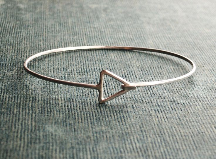 Triangle Sterling Silver Bangle by SDMarieJewelry on Etsy
