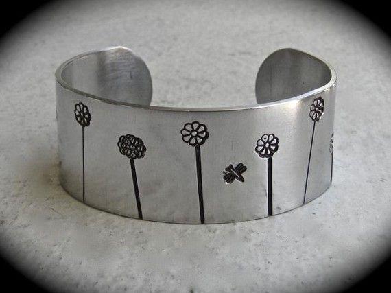 Tumbled Bracelet Blank Aluminum Cuff 1 Inch by gottagettadeal