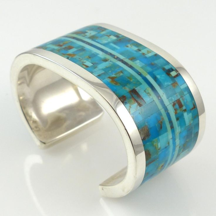 Turquoise Inlay Cuff by Colin Coonsis