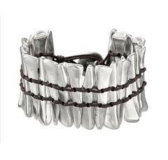 Uno de 50 Sterling silver & leather bracelet. $185