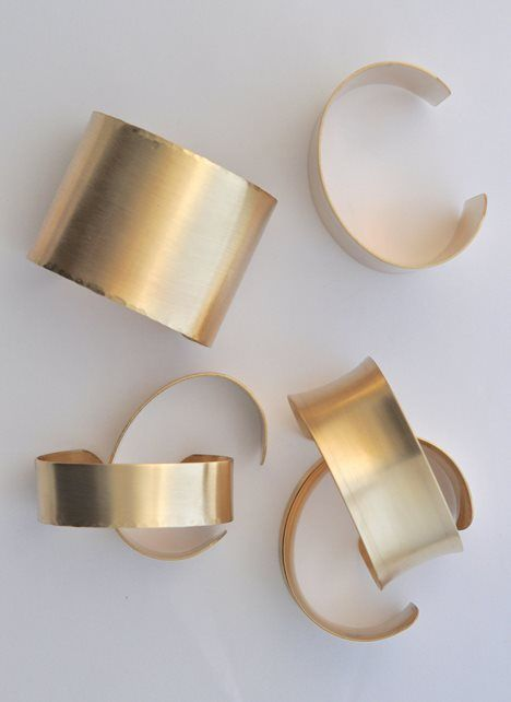 bracelet / wide brass cuffs - 11 Main