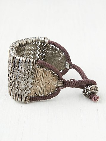free people, metal zig zag bracelet