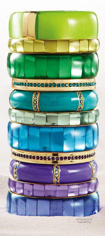 stack of bold bangles