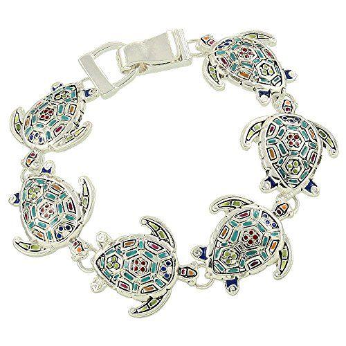 Turtle Charm Bracelet D1 Mosaic Design Luxury Plating Mag... www.amazon.com/...