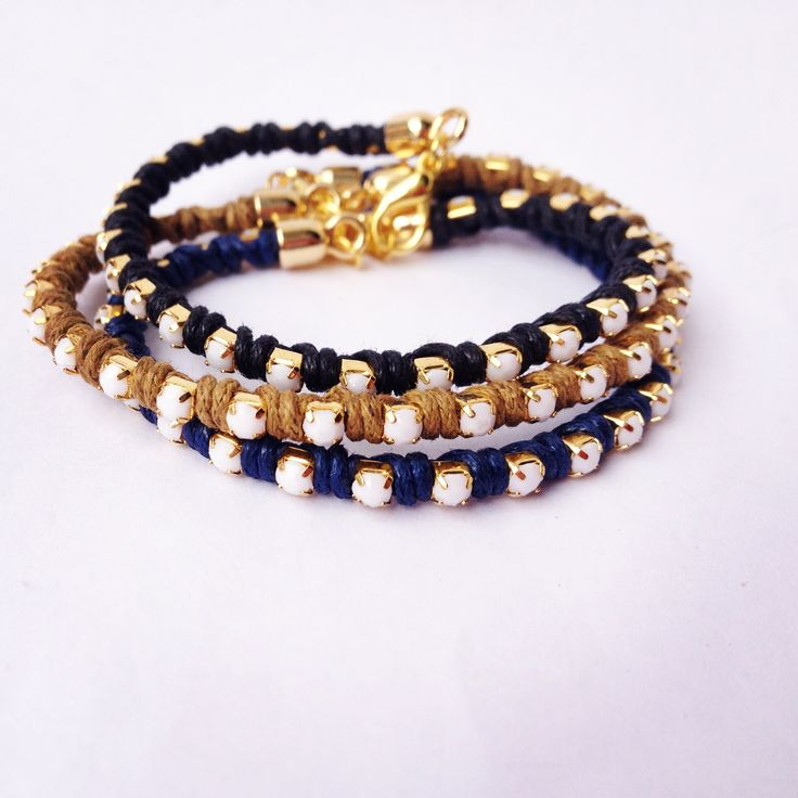 White Strass bracelets