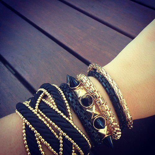 gold bracelet #inspirations #metallic