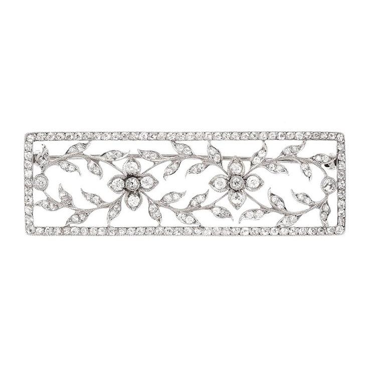 Belle Epoque Platinum and Diamond Brooch