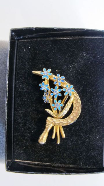 Joan Rivers Brooch Gold Tone Crystal and Enamel More Than 1 Jr Items Get 15 Off ...