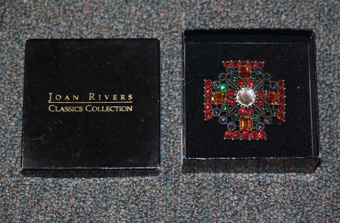 Joan Rivers Classics Collection Rhinestone Brooch w Original Box | eBay