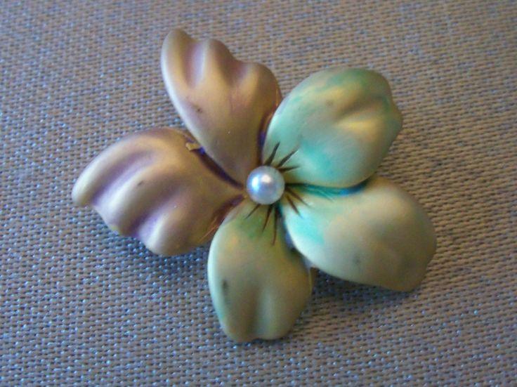Joan Rivers Flower Pin | eBay