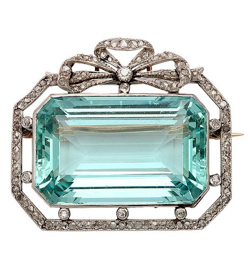 Stunning Edwardian Pendant/Brooch. Platinum top & 14kt Gold Back with Russian Ha...
