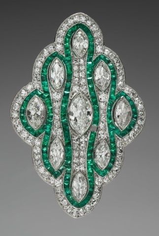 Pendant Brooch, 1925-1930, retailed by Cowell and Hubbard Co. (American, b. ), c...