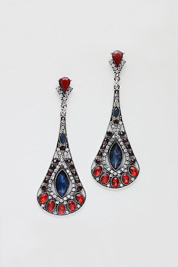 Alexandra Earrings in Fiery Sapphire