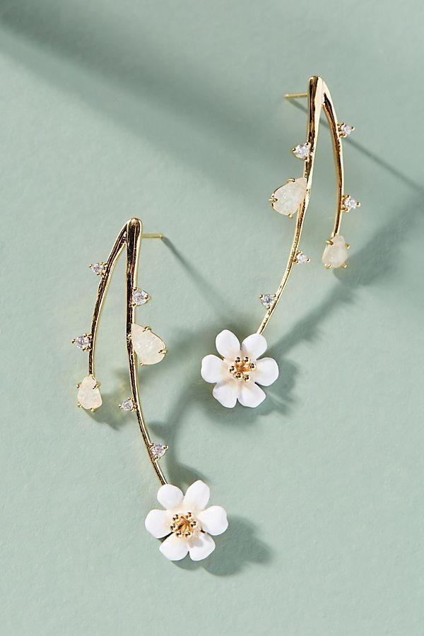Cascading Flowers Drop Earrings |♦F&I♦