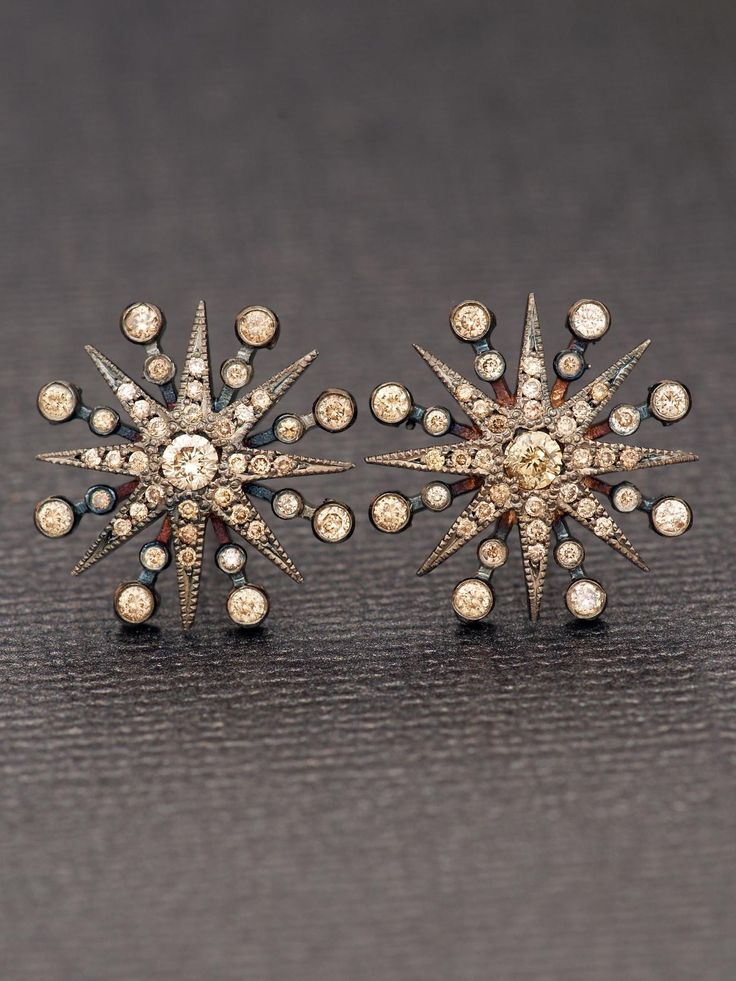 Colette 18k Champagne Diamond Star Earrings at London Jewelers!