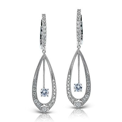 Duchess Collection - These fabulous 18K white gold earrings are comprised of .53...