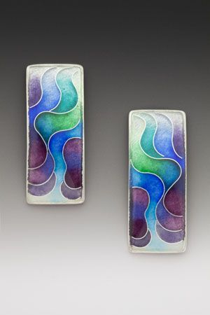Earrings by Anna Tai (Enamel and sterling and fine silver) ♦F&I♦