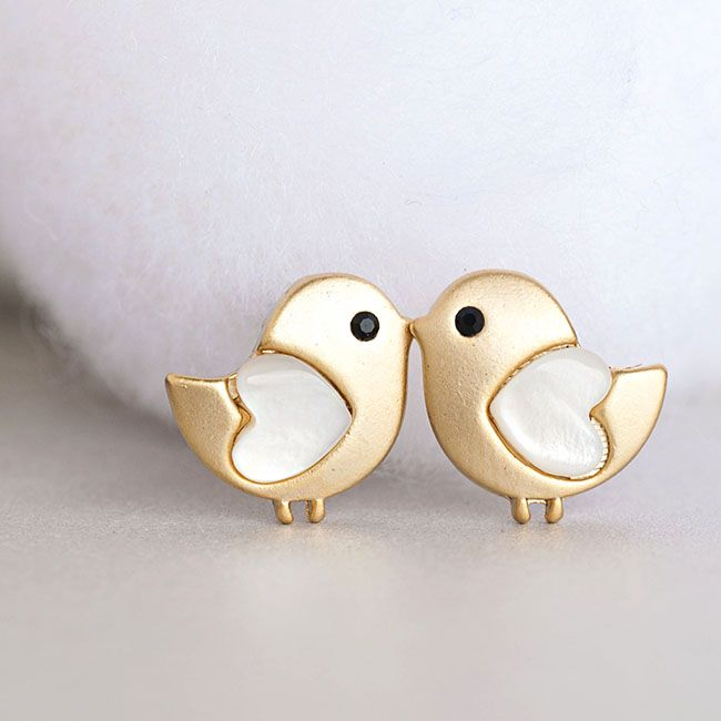 Gold Baby Stud Earrings F I