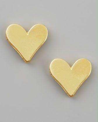 Gold Heart Earrings $40