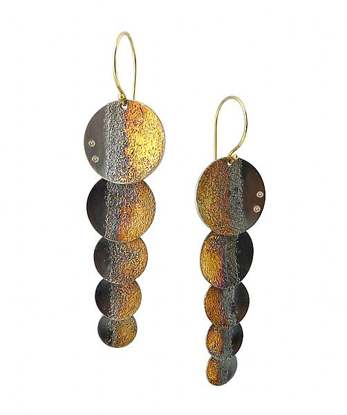 Gold Shadow Shimmer Earrings by Jenny Reeves: Gold, Silver, & Stone Earrings ava...
