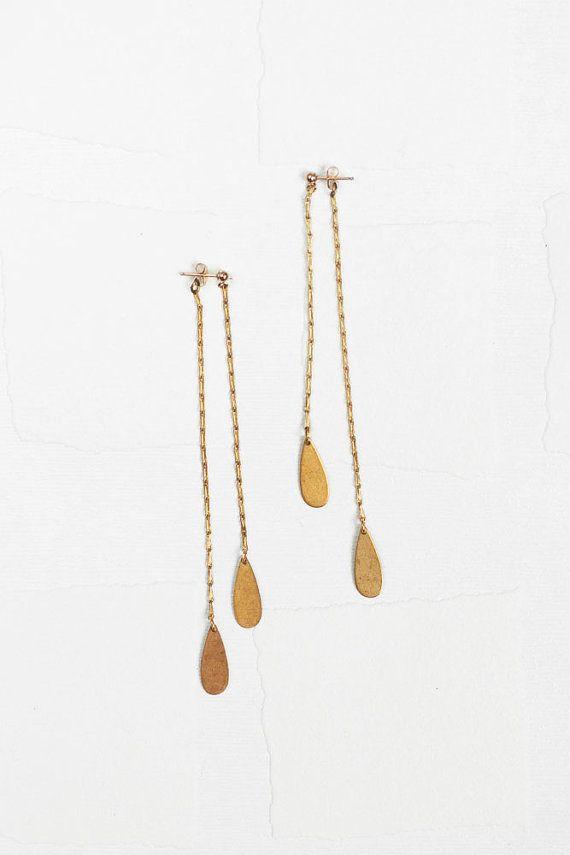 Lisette // handmade eco friendly earrings by clydesrebirth on Etsy