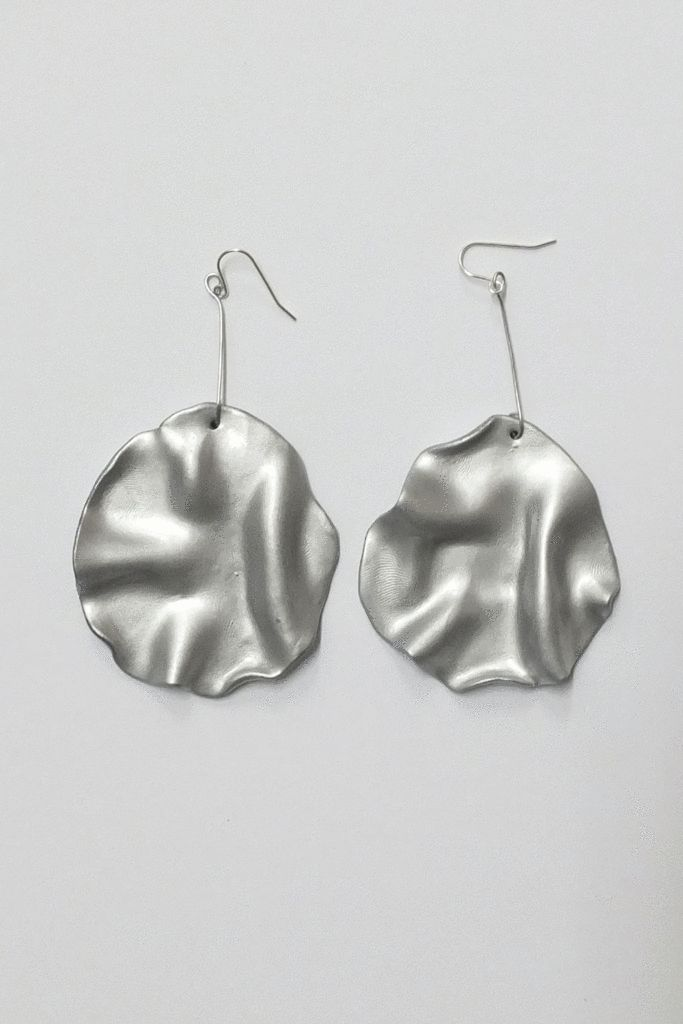 MARS Wavy drop earrings - METALS