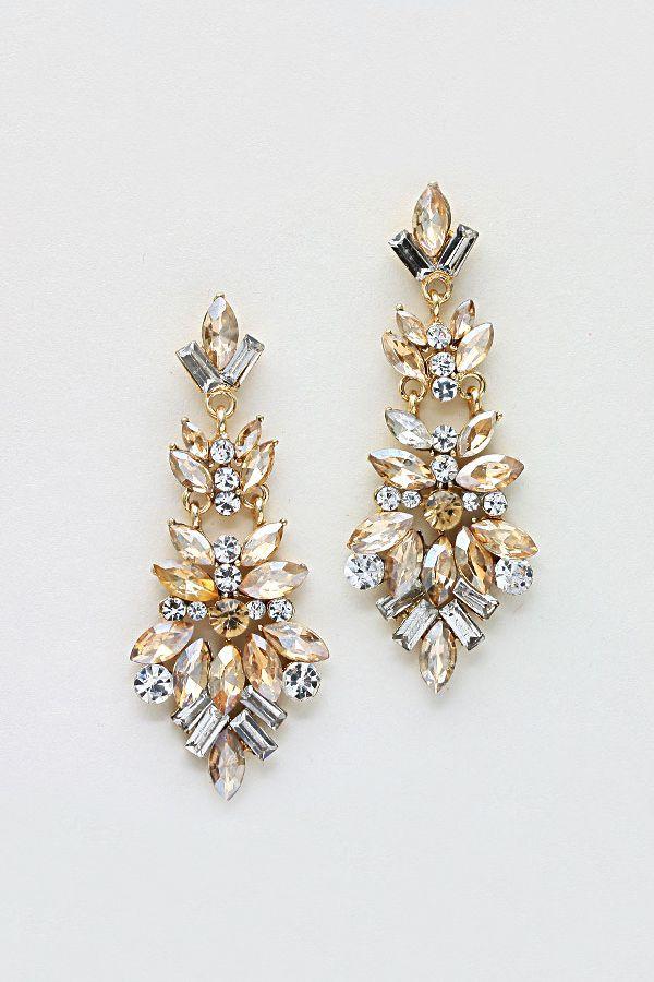 Marquise Chandelier Earrings in Colorado Topazv
