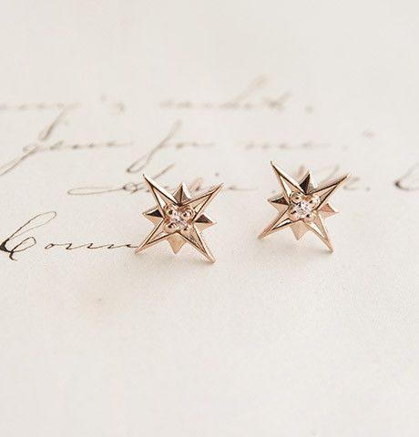 New in our 1909 collection, the Compass Rose Earrings come in 14K yellow or rose...