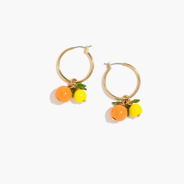 Orange hoop earrings   ♦F&I♦