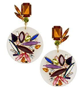 Orecchini con disco in perspex e gioielli | ♦F&I♦