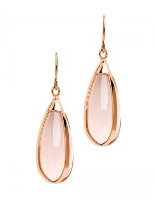 Rose Quartz Teardrop Earrings |♦F&I♦